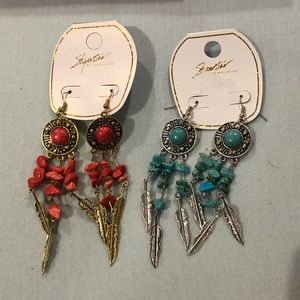 Two Aztec earrings